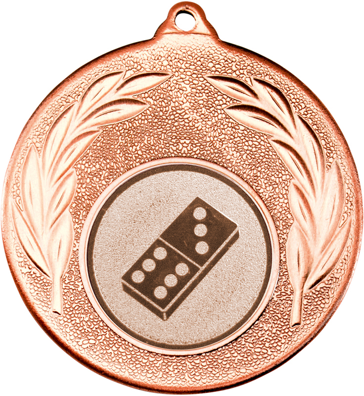 "Bronze Leaf Medal with 1"" Domino Centre Disc 50mm (2"")"