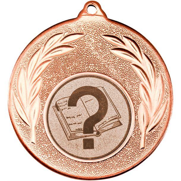 "Bronze Leaf Medal with 1"" School Centre Disc 50mm (2"")"