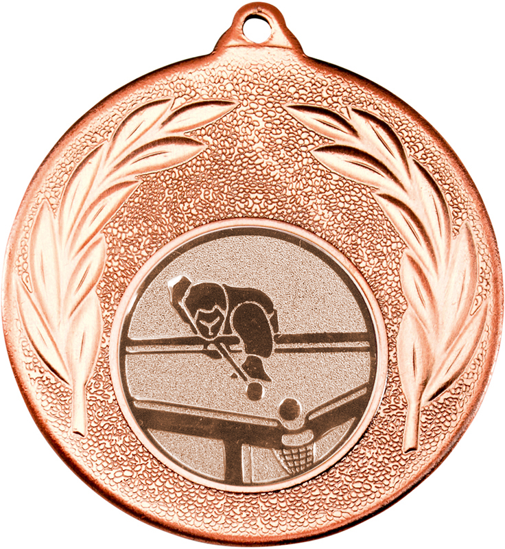 "Bronze Leaf Medal with 1"" Pool Centre Disc 50mm (2"")"
