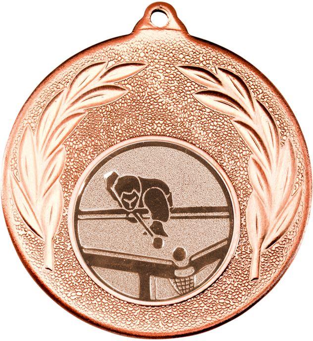 "Bronze Leaf Medal with 1"" Pool Centre Disc 50mm (2"")"