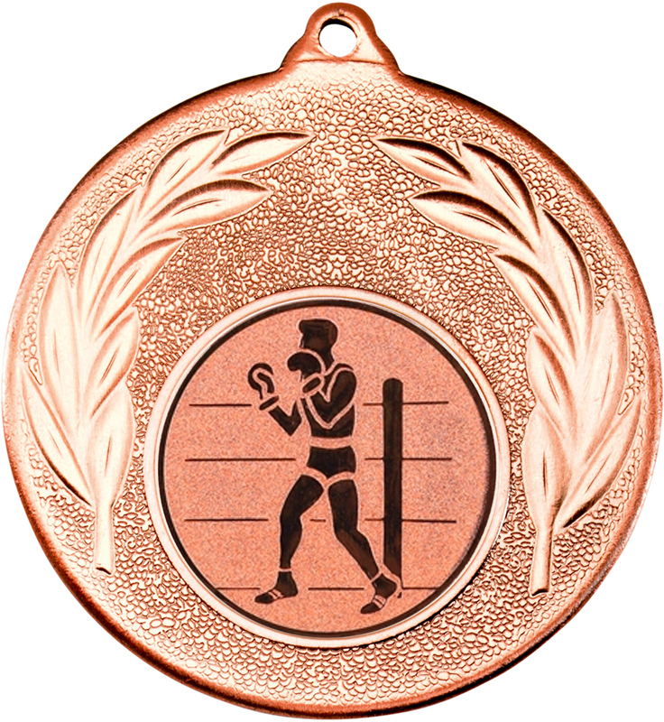 """Bronze Leaf Medal 50mm (2"""") with 1"""" Boxing Centre Disc"""