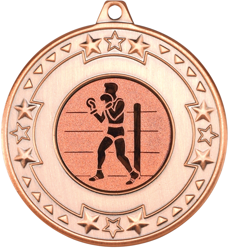 "Bronze Star & Pattern Medal 50mm (2"") with 1"" Boxing Centre Disc"