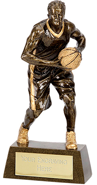 "Male Basketball Player Trophy 15cm (6"")"