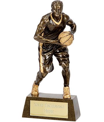 "Male Basketball Player Trophy 18.5cm (7.25"")"