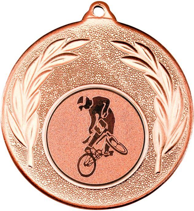 """Bronze Leaf Medal with 1"""" BMX Centre Disc 50mm (2"""")"""