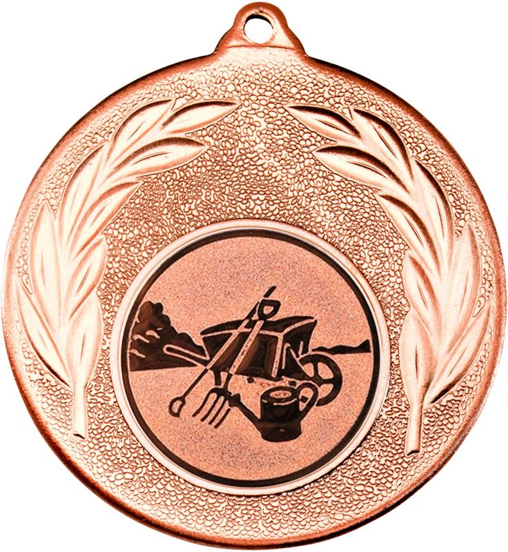 "Bronze Leaf Medal with 1"" Gardening Centre Disc 50mm (2"")"