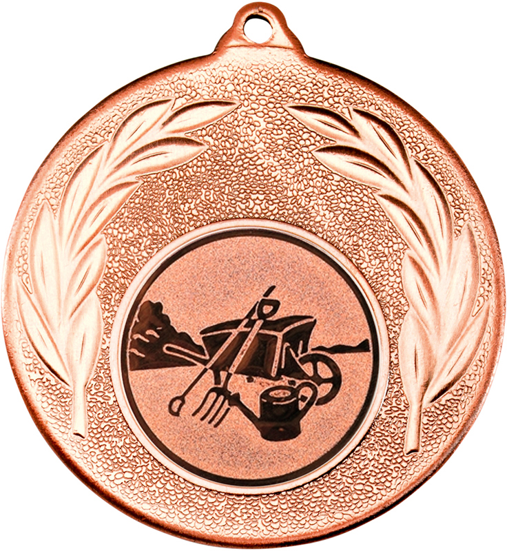 "Bronze Leaf Medal with 1"" Gardening Centre Disc 50mm (2"")"