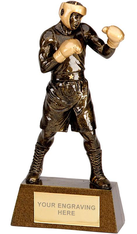 """Antique Gold Boxing Trophy 26.5cm (10.5"""")"""