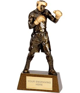 "Antique Gold Boxing Trophy 22cm (8.75"")"