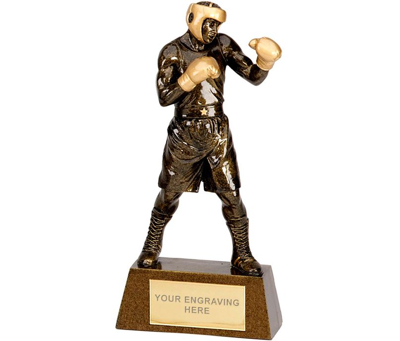 "Antique Gold Boxing Trophy 24cm (9.5"")"