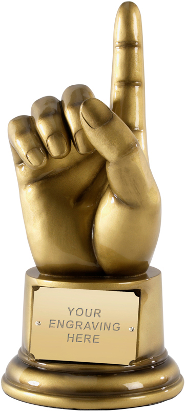 "Number 1 Award! Life Size Hand Gesture Award 23cm (9"")"