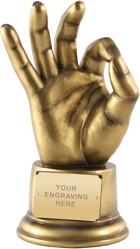"OK! Perfect! Life Size Hand Gesture Award 21.5cm (8.5"")"