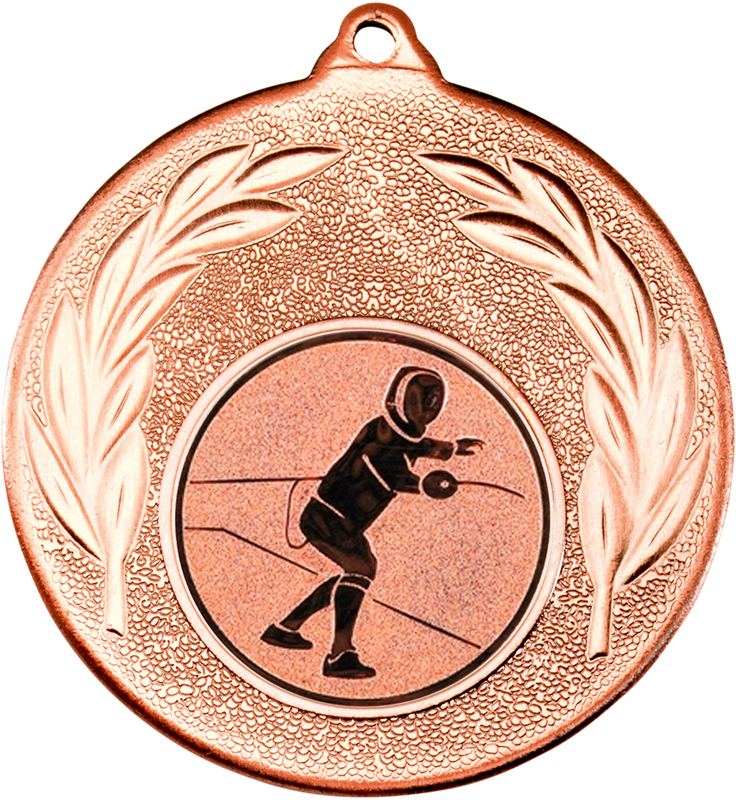 "Bronze Leaf Medal with 1"" Fencing Centre Disc 50mm (2"")"