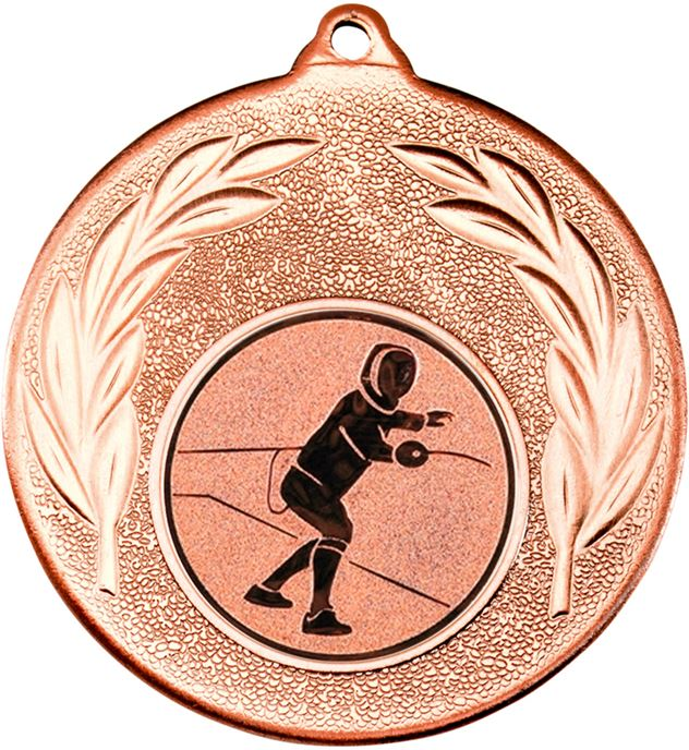 "Bronze Leaf Medal with 1"" Fencing Centre Disc 50mm (2"")"