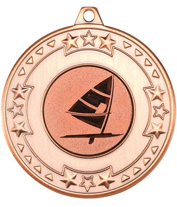 "Bronze Star & Pattern Medal with 1"" Windsurfing Centre Disc 50mm (2"")"