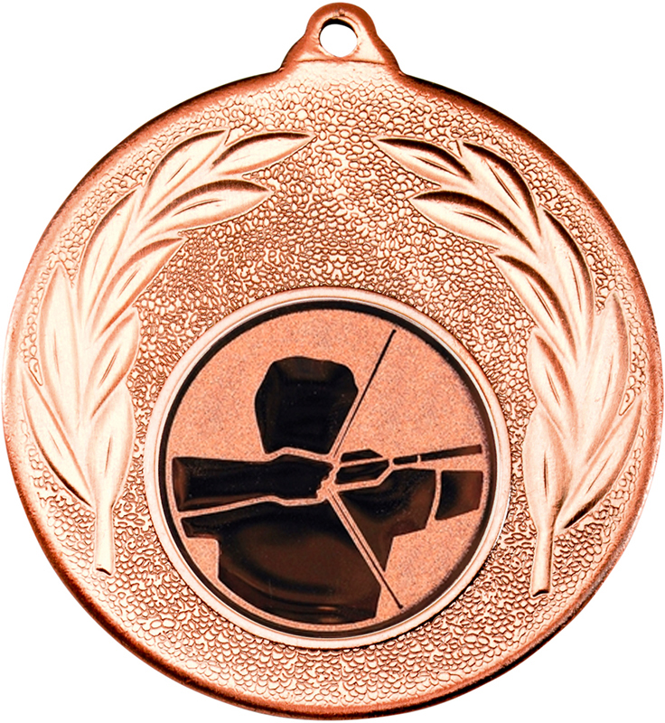 "Bronze Leaf Medal with 1"" Archery Centre Disc 50mm (2"")"