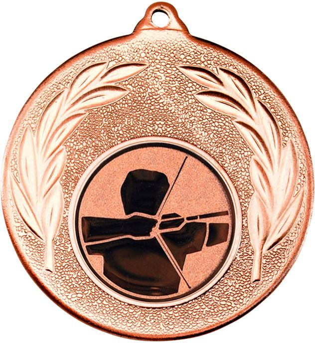 """Bronze Leaf Medal with 1"""" Archery Centre Disc 50mm (2"""")"""