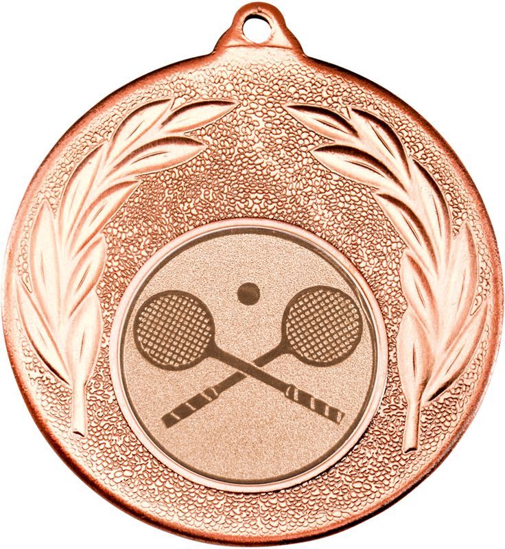 "Bronze Leaf Medal with 1"" Squash Centre Disc 50mm (2"")"