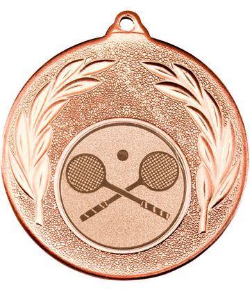 "Bronze Leaf Medal with 1"" Squash Centre Disc 50mm (2"")"