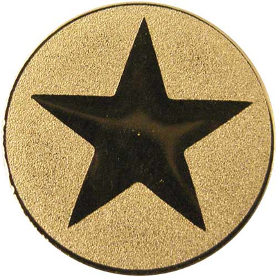 "Gold Metal Star 1"" Centre Disc"