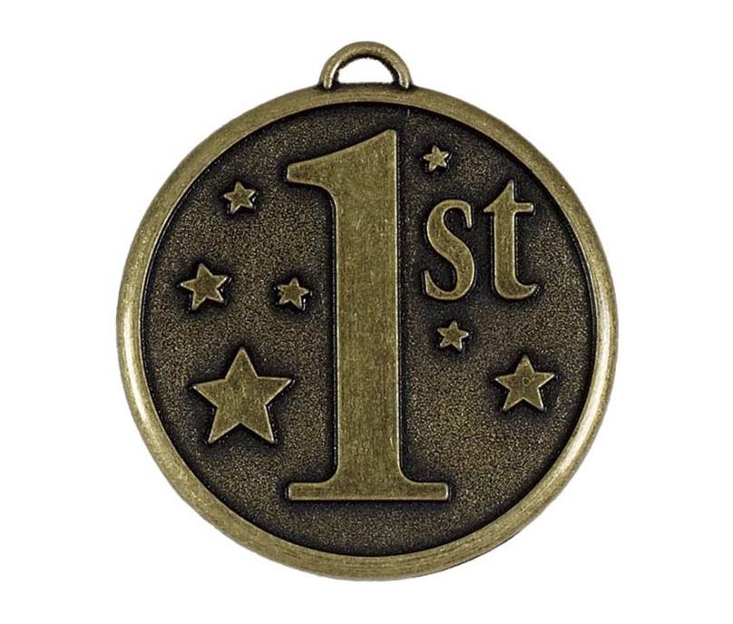 "Gold 1st Place Stars Medal 50mm (2"")"