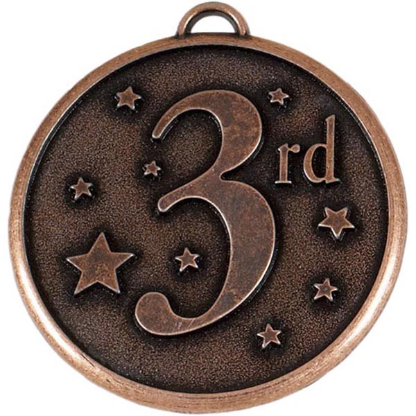"""Bronze 3rd Place Stars Medal 50mm (2"""")"""