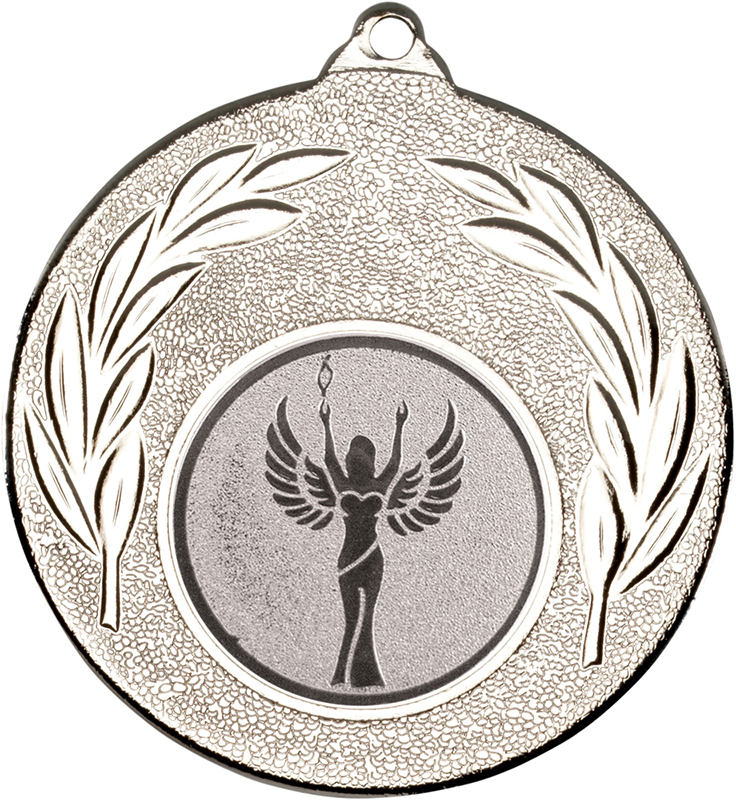"""Silver Leaf Medal with 1"""" Achievement Centre Disc 50mm (2"""")"""