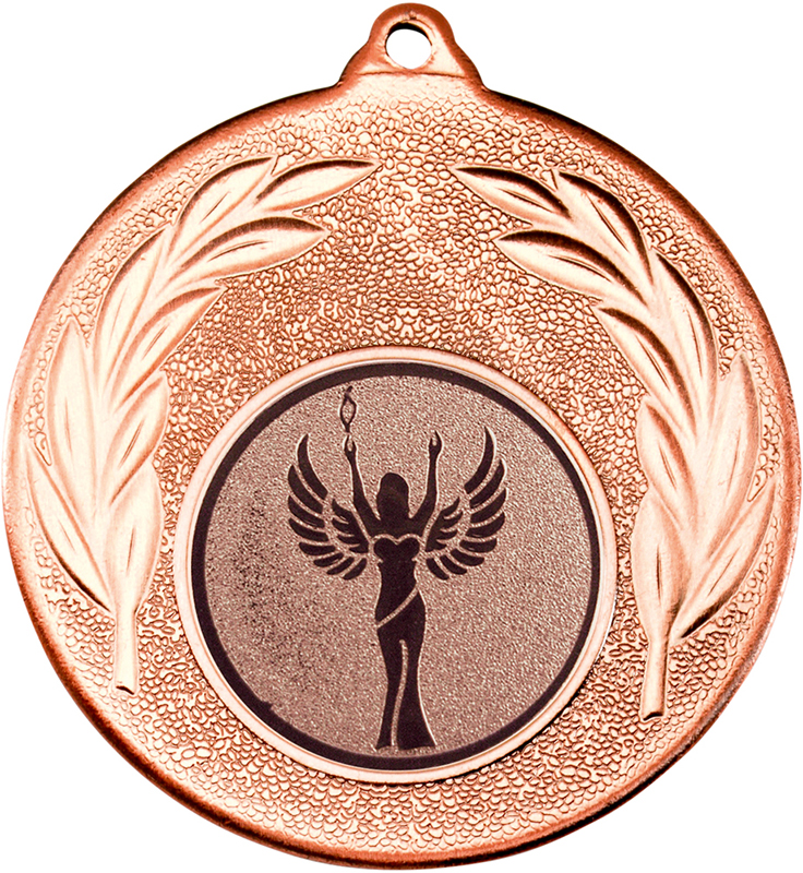 "Bronze Leaf Medal with 1"" Achievement Centre Disc 50mm (2"")"