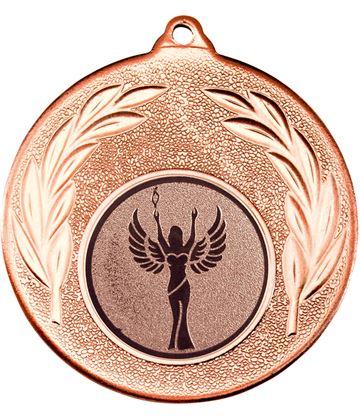 "Bronze Leaf Medal with 1"" Achievement Centre Disc 50mm (2"")"