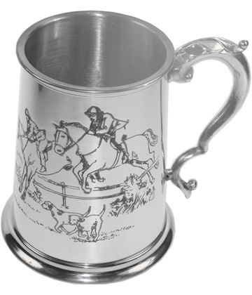 "1pt Sheffield Pewter Hunting Tankard 11.5cm (4.5"")"