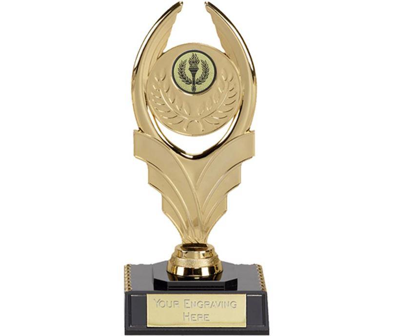 """Gold Laurel Trophy on Black Base 15cm (6"""")"""