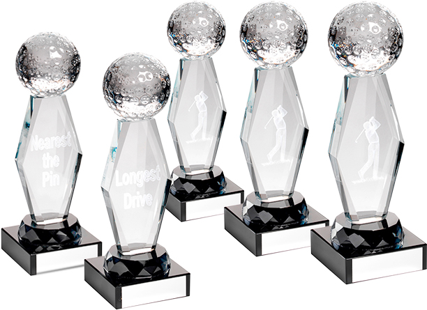 Golf Day Trophy Package Optical Crystal Awards