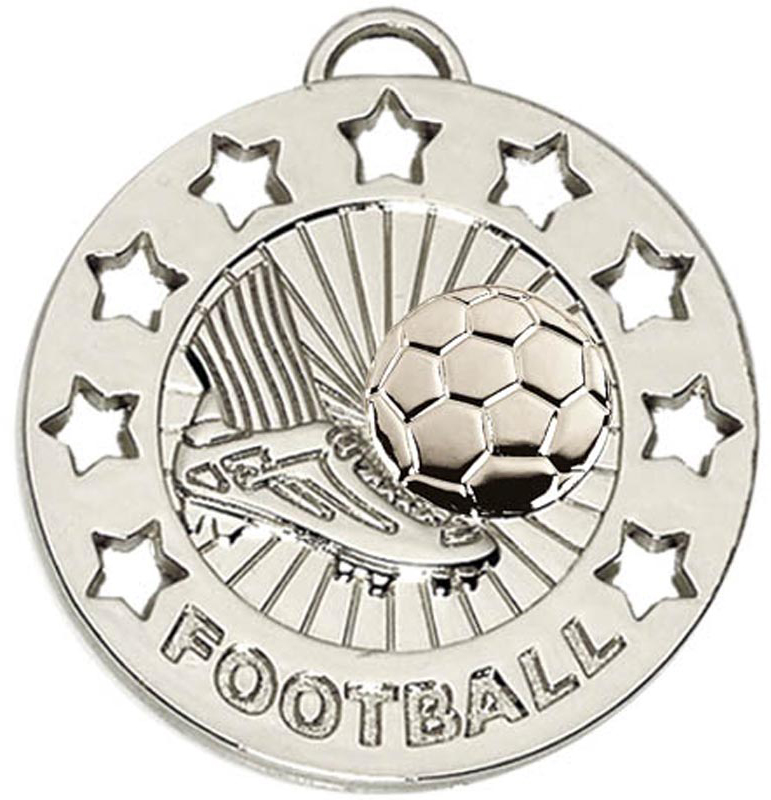 "Silver Spectrum Football Medal 40mm (1.5"")"