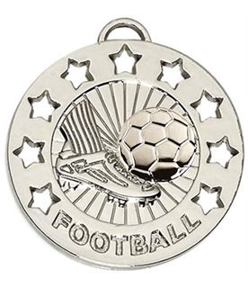 "Silver Spectrum Football Medal 40mm (1.5"")"
