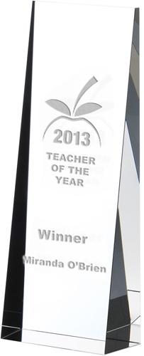"Optical Crystal Towering Wedge Award 16.5cm (6.5"")"