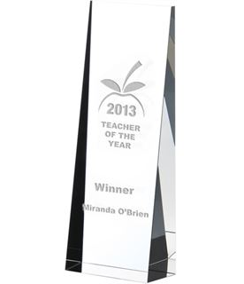 "Optical Crystal Towering Wedge Award 19cm (7.5"")"