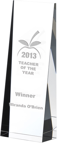 "Optical Crystal Towering Wedge Award 21cm (8.25"")"
