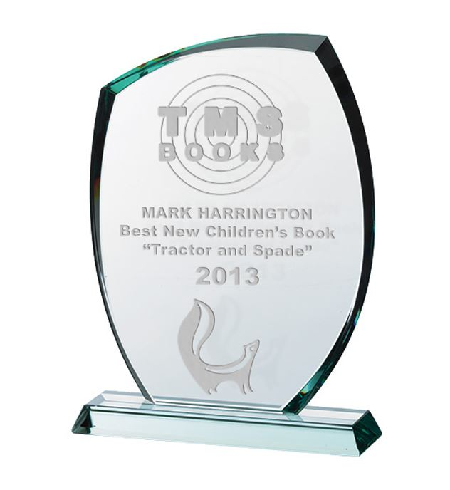 "Stylish Jade Glass Plaque Award 16.5cm (6.5"")"