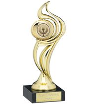 "Gold Plastic Flame Trophy on Marble Base 18.5cm (7.25"")"