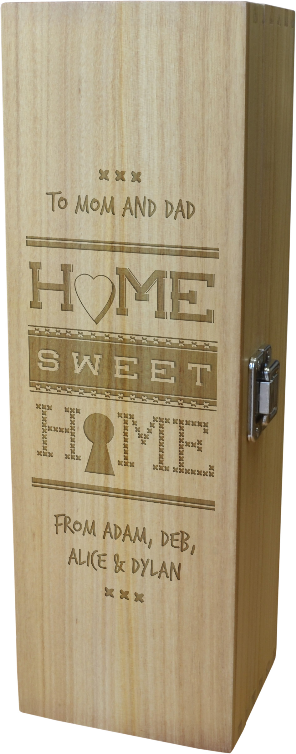 "Home Sweet Home Personalised Wine Box 35cm (13.75"")"