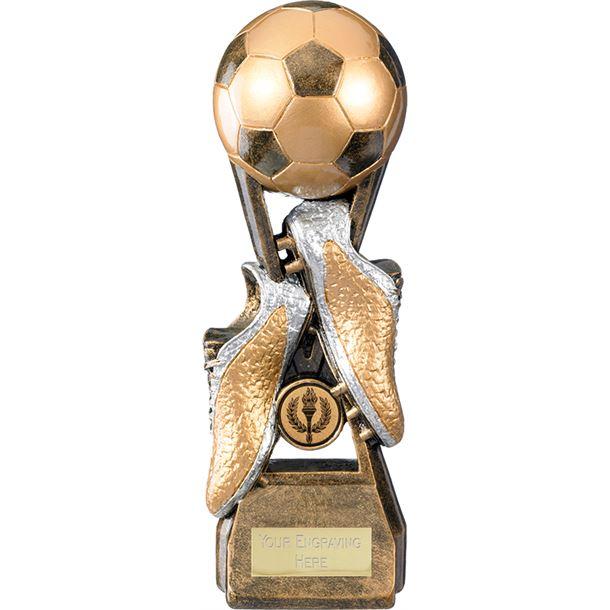 "Invincible Elite Ball & Boot Football Trophy 16cm (6.25"")"