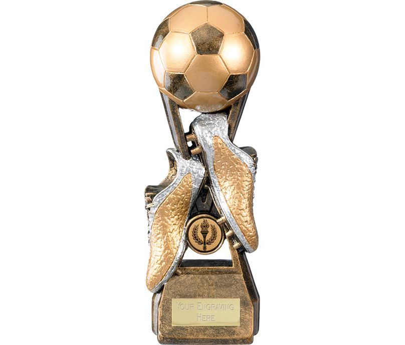"Invincible Elite Ball & Boot Football Trophy 16cm (6.25"")"