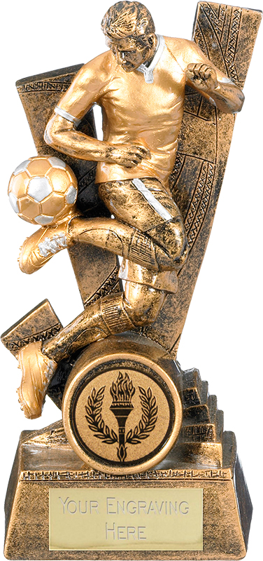 "Trident Male Football Player Trophy 24cm (9.5"")"