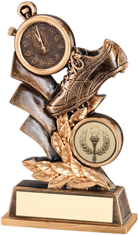 """Antique Gold Athletics Leaf Plaque Trophy 12.5cm (5"""")"""