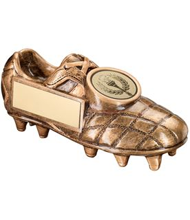 "Gold Football Boot Trophy with Centre Disc 15cm (6"")"