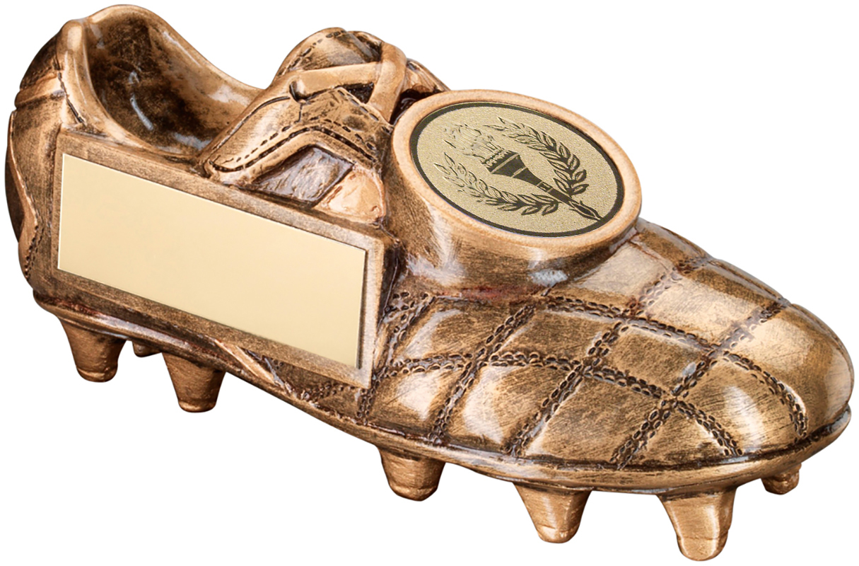 "Gold Football Boot Trophy with Centre Disc 11.5cm (4.5"")"