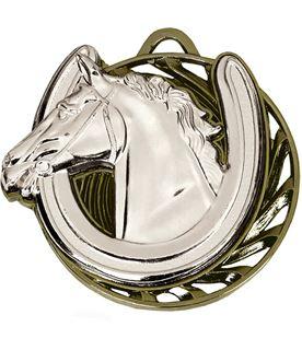 "Silver Vortex Horse Equestrian Medal 50mm (2"")"