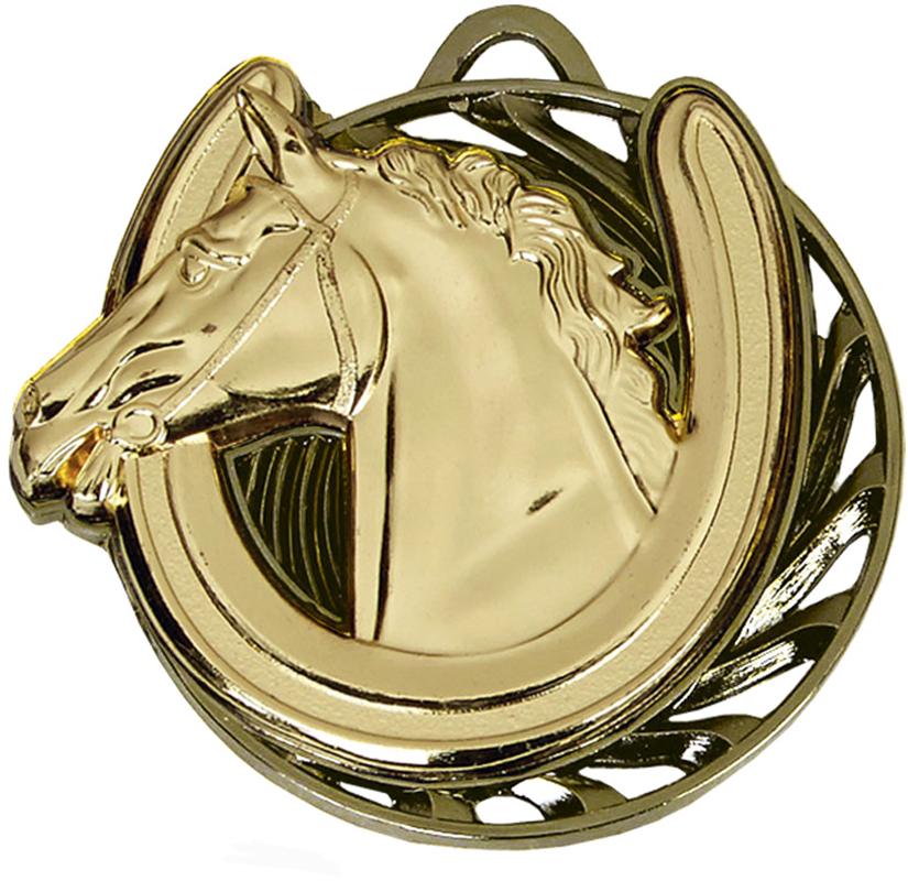 "Gold Vortex Horse Equestrian Medal 50mm (2"")"