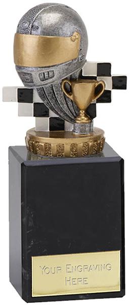 """Silver & Gold Plastic Motorsport Trophy on Marble Base 14.5cm (5.75"""")"""