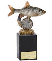"Roach Plastic Fishing Trophy on Marble Base 14.5cm (5.75"")"